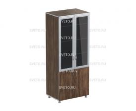Шкаф с  дверками со стеклом «Стайл»