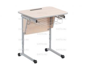 Стол ученический с наклоном столешницы (0-24°) и корзиной
