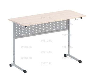 Стол ученический с перфорированной панелью