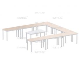 Композиция из столов каркасных составных:  9 шт.