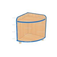 Шкаф-тумба для  игрушек и пособий угловая ТДУ