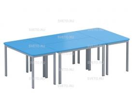 Композиция из 4+2=6 шт.  столов каркасных составных