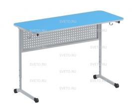 Стол ученический передняя панель  (перфорация), регулируемый