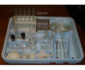 Набор посуды и принадлежностей для ученического эксперимента