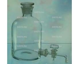 Склянка с тубусом 1000мл (бутыль Вульфа)