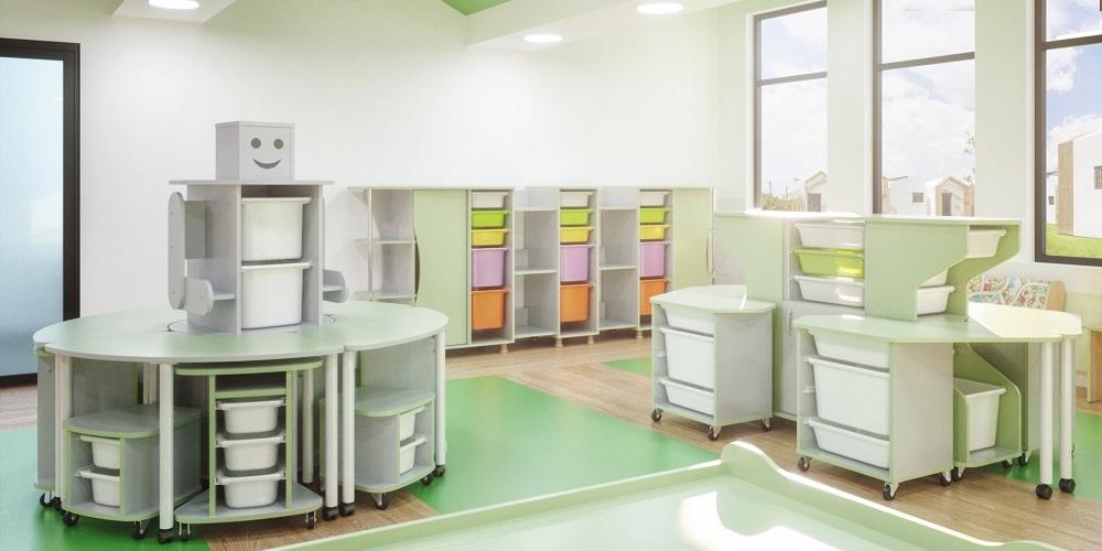 Модульная мебель для конструирования и робототехники