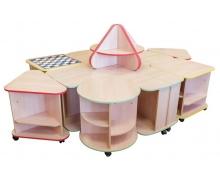 Дидактический набор мебели Земляничка