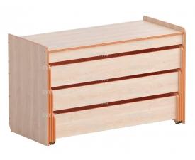 Кровать трехуровневая в корпусе