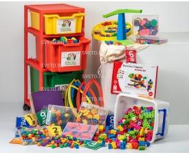 """Набор """"Первые шаги в математику"""" на 12 детей с системой хранения"""
