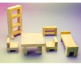 """Игровой набор Фребеля """"Мебель для кукольного домика"""""""