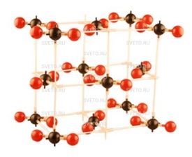 Модель кристаллической решетки двуокиси углерода