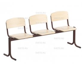 Блок стульев 3-х местный