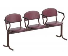 Блоки стульев не откидывающиеся сиденья