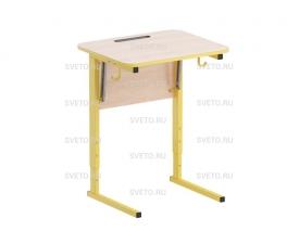 Стол ученический с наклоном столешницы (0-24°) на прямоугольной трубе
