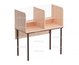 Стол для лингафонного кабинета со стеклом