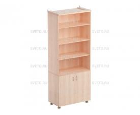 Шкаф секционный для учебных пособий (верхняя часть без дверок, нижняя часть с дверками)