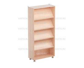 Шкаф-стеллаж  (4 наклонные и 1 горизонтальная полки)