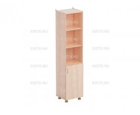 Шкаф для учебных пособий (узкий) (верхняя часть без дверок, нижняя часть с дверками)