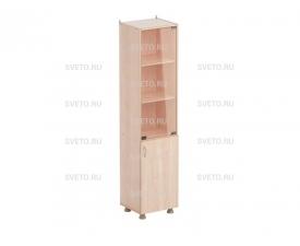 Шкаф для учебных пособий (со стеклом) (узкий)