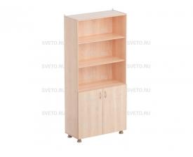 Шкаф для учебных пособий (верхняя часть без дверок, нижняя часть с дверками)