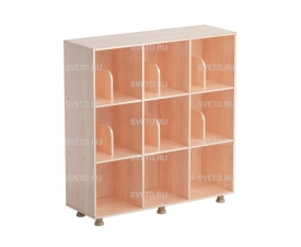 Шкаф  «Мозаика» трехсекционный (с перегородками) (без дверок)