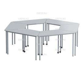 Комплект столов на колесиках